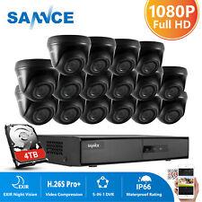SANNCE 16CH 5IN1 1080P HDMI DVR Dome 3000TVL CCTV Camera Home Surveillance Kit