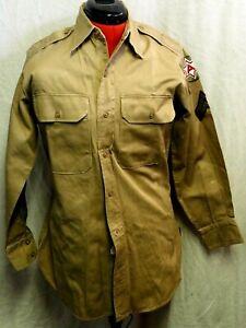 US Army Khaki Shirt Long Sleeve Corporal 6th Army size 40