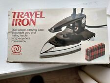 CHARLES CRAFT TRAVEL IRON  - New in the Box - Carrying Case - Instructions