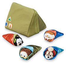 US Disney Store Camping Set 4 Micro Tsum Tsum & Tent! NWT!Chip Dale Goofy Pluto