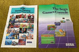 2 Sega Master System Games Catalog - Poster/Leaflet/Booklet, Official Release