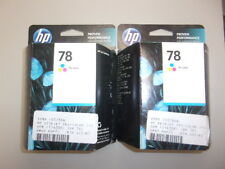 C6578DN-Genuine HP 78 Tri-color Ink Cartridges, Lot of 2, Recently Expired