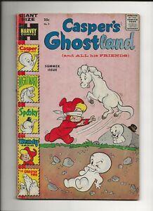 Casper's Ghostland #3 1959 Harvey Giant Silver Age Wendy Spooky Nightmare GD/VG