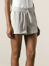 New HELMUT LANG Gray Leather Shorts Size L