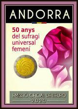 2 Euro Gedenkmünze Andorra 2020 - 50 Jahre Frauenwahlrecht - Coin Card