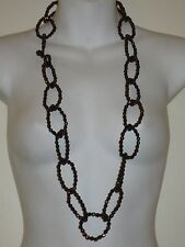 Lee Angel Metallic Bronze Link Bead Link Toggle Necklace NIP $110