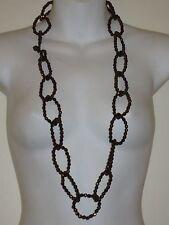 Lee Angel Metallic Bronze Link Bead Link Toggle Necklace NIP $110