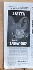 1960 magazine ad for Lawn-Boy lawn mowers - Sound of mower Echo of Quality
