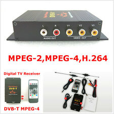 Car Mobile HD DVB-T MPEG4 Dual Antenna Digital TV Receiver Top Box Tuner 4 Video