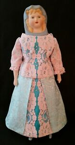 Vintage Bisque Porcelain Parian-type Blue Scarf Empress Louise of Prussia Doll