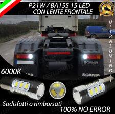 COPPIA LUCI RETROMARCIA 15 LED P21W BA15S CANBUS SCANIA SERIE P NO ERROR