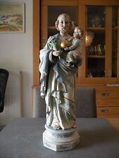 Antique Porcelain Statue Saint Joseph and the Child Jesus Christ
