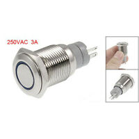 Blue Angel Eye Led 16mm 12V staInless Steel Momentary Push Button Switch T1