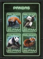 MALDIVES 2018  PANDAS SHEET MINT NEVER HINGED