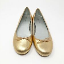 Banana Republic Womens Size 7M Gold Colored Leather Ballet Shoes