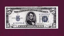 Fr.1653  $5  1934 C  **STAR**  SILVER CERTIFICATE NOTE SN *13692934 A HIGH GRADE