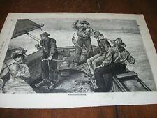 1886 Art Print Engraving - Bluefish Ocean Fishing Fish Boat