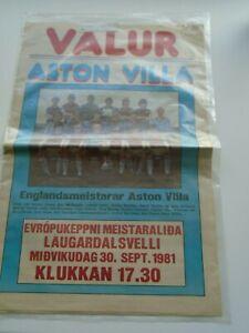 VALUR (ICELAND) V ASTON VILLA 1981-82 EUROPEAN CUP 1ST ROUND IN ORIGINAL PACKET