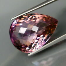 21.20 Cts. (Perfect Size!) 100% NATURAL Ametrine from Bolivia, Pear Shape, CLEAN