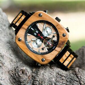 BOBO BIRD Automatic Watch Mechanical Wristwatch Business Gift For Him Men Wooden