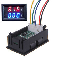 Voltímetro Amperímetro Digital 100V 100A DC Led Doble Panel Amp voltios medidor