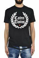 Dsquared2 T-Shirt Noir Homme Imprimé en Caoutchouc Mod.S71GD0536S22427900