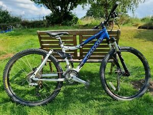 "Kona Four, Full Suspension Mountain Bike. 26 Inch Wheels, Disc Brakes 16"" Frame"
