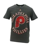 Philadelphia Phillies MLB Majestic Kids Youth Size Distressed T-Shirt New Tags