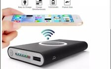 Qi Wireless Power Bank Charger 2 USB Battery Fast Charger For iPhone Samsung ANY