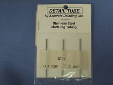 "NEW Accurate Detailing Stainless Steel Modeling Tubing ST17 OD 0.059"", ID 0.041"""