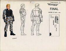 G.I. GI Joe Airborne Model Cel Art 80-90's Cartoon 1990 Dic Animation City