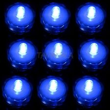 Wholesale 12 LED Submersible Wedding Floral Wedding Decor Party Tea Light  Blue