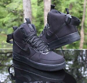 Nike Air Force 1 High Men's Size 13 Canvas Triple Black AH6768-001