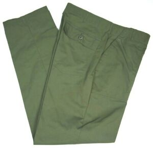 Vintage 70s Military Pants Sateen Style Army Mens 38x35 Utility OG Mint Unissued