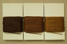 3x 20m HEAVY DUTY STRONG 1mm 8s SEWING THREAD TAN DARK MIX BROWN LEATHER REPAIR