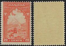 Canada Scott E3: 20c Orange 1927 Confederation Issue Special Delivery, Just F-NH