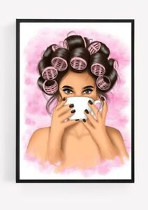 Hairdresser Deco Beauty Room Fashion Coffee Picture Print A4 Unframed Wall Art