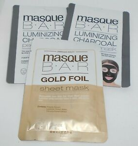 3 Masque Barre Peel-Off Complet Masques + Feuille Masque Neuf En Paquets