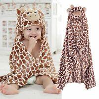 Cute Cartoon Baby Hooded Bath Towel Blanket Infant Soft Newborn Patter Bathrobe