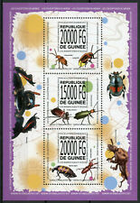 Guinea Insects Stamps 2013 MNH Beetles Beetle Fauna 3v M/S