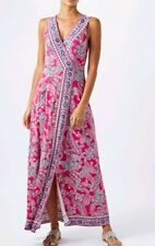 Monsoon Ellie Pink Paisley Print Stretchy Maxi Dress Size 14 Bnwt