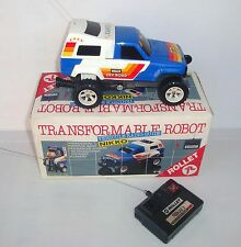 Voiture radio commandé Nikko Rollet Robot transformable époq Transformers 1/24