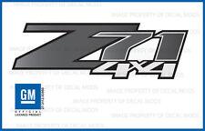 2 - Z71 4x4 Chevy Silverado 07-13 Decals Stickers - Black Stone Fade GRBLKSTN