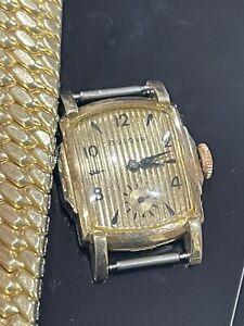 Bulova mens watch vintage 10K Gold Filled NOT WORKING