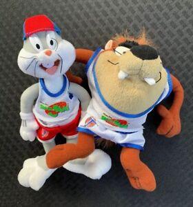 Vintage 1996 Warner Bros. Space Jam Movie Bugs Bunny & Taz McDonald's Plush Lot!