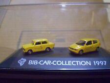 73 Herpa 1/87 Michelin Man Bib-Car-Collection 1997 Post set Trabi & VW Polo