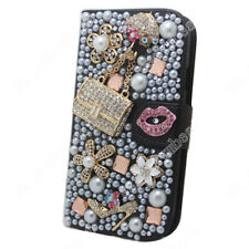 Bling Soft Slim Flip Stand Wallet Case Flower PU Leather Cover for Sony Xperia
