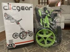 Brand New, Clicgear Model 3.5+ Golf Push Cart Lime Green And Black SOLD OUT