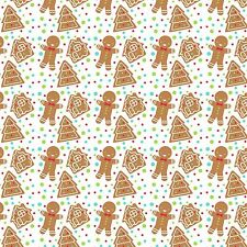 Printed Bow Fabric A4 Christmas Ginger Bread Man House CM7 Make glitter bows