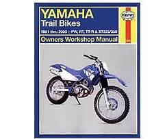 Yamaha PW50 PW80 RT100 TTR90-250 XT225 XT350 1981-2000 Haynes Workshop Manual